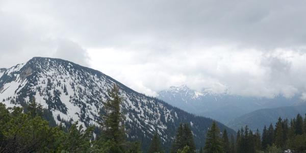 Panorama hin zum Großen Traithen.