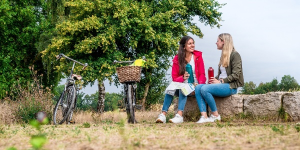 Picknick bei der Radtour an der Dalke in Gütersloh