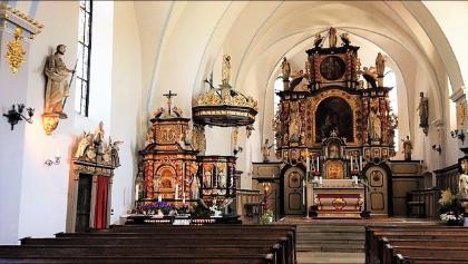Wallfahrtskirche in Kohlhagen und Gut Ahe
