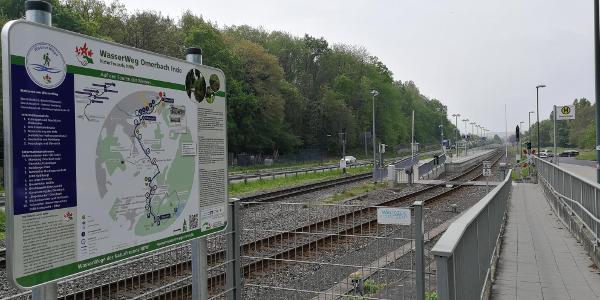Übersichtstafel -WasserWeg Omerbach Inde - EW-Weisweiler Bf