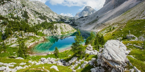 Blick auf den großen Triglav See im gleichnamigen Nationalpark