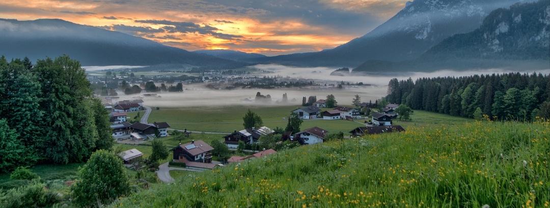 Sonnenaufgang in Inzell
