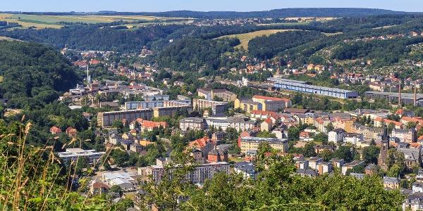 Blick vom Windberg über Freital