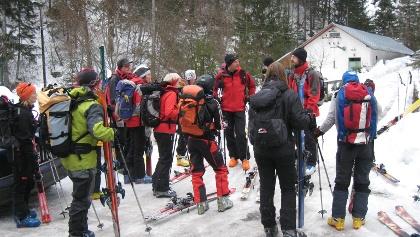 Start der Tour beim Kraftwerk im Bärental