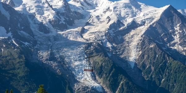La Brévent Gondola and Mont Blanc