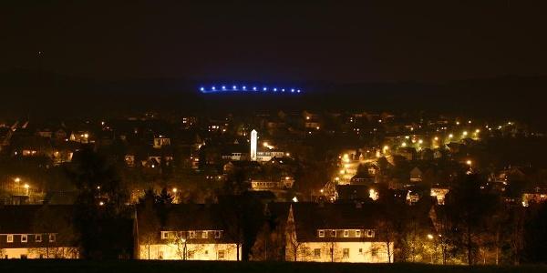Blick auf den beleuchteten Bunker Ereich