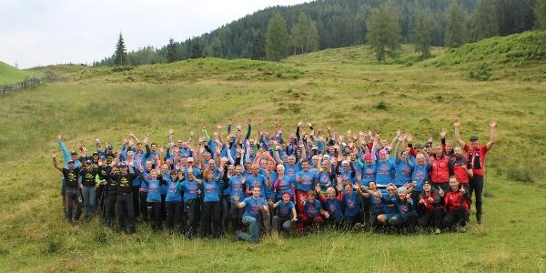 Teilnehmer, Guides und Bergretter