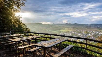 Blick von der Hohlsteinhütte auf Münchweiler