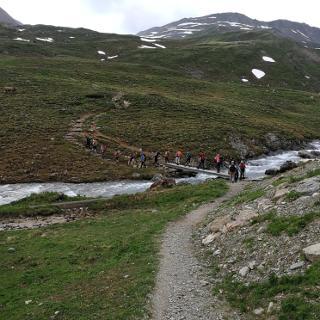 Aufstieg von der Heidelberger Hütte Richtungen Fimbapass.