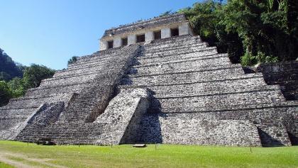 Edificios maya en Palenque