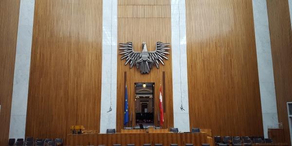 (Ehemaliger) Nationalratssitzungssaal im österreichischen Parlament