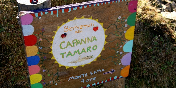 Willkommen auf der Capanna Tamaro.