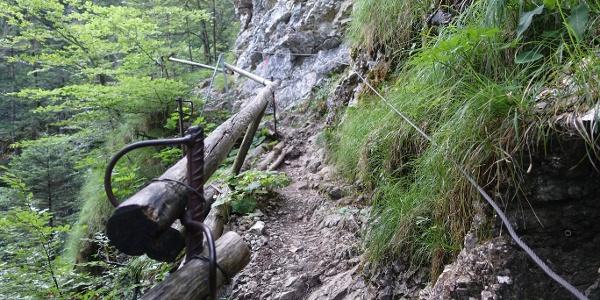 Gesicherte Passagen in der Reichenbachklamm