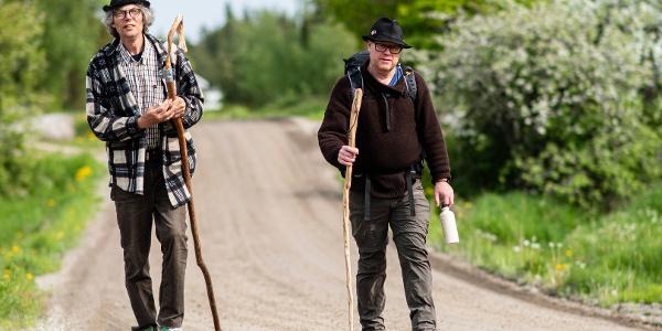Olavsboden in Nagu village sells locally made pilgrim walking sticks