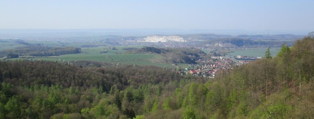 Aussicht von den Südharzer Höhen