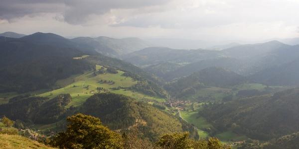 Blick ins Tal beim Schwarzwald Super!