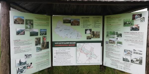 Infotafel Bioshärenreservat Karpaten