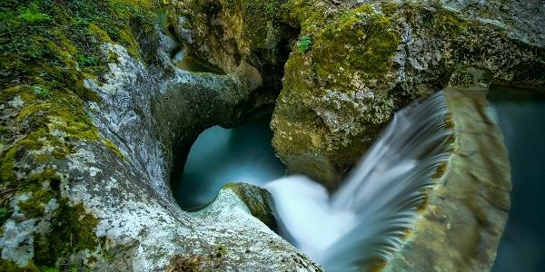 Water Falling into the Krčnik Gorge