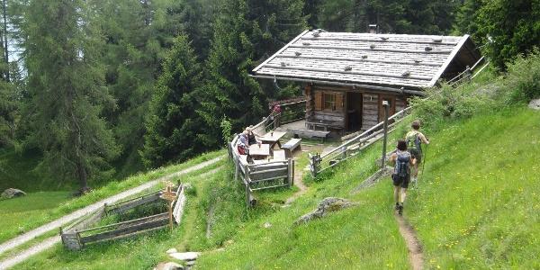 Die Waalerhütte ist von Mai bis Oktober vom Waaler bewohnt, der das uralte Bewässerungssystem der Waale in Stand hält und das ungehinderte Fließen des Wasser garantiert.