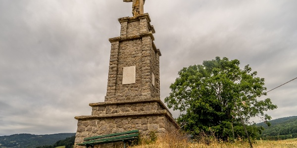 Sacre-Couer Statue Overlooking Orbey