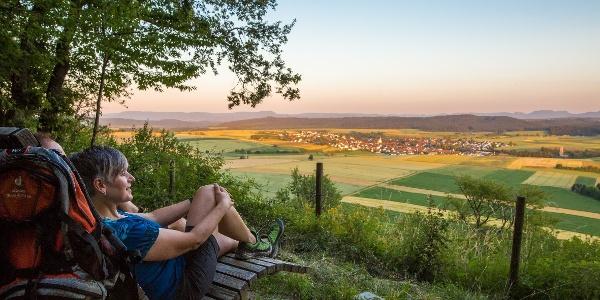 Burg-Blick in Haigerloch-Gruol