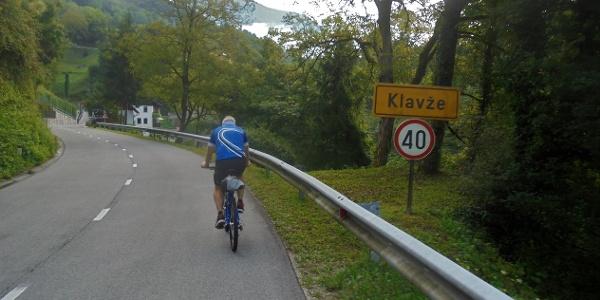 Along the road from Most na Soči to Klavže