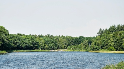 Blick auf das Freibad am Bredenbeker Teich
