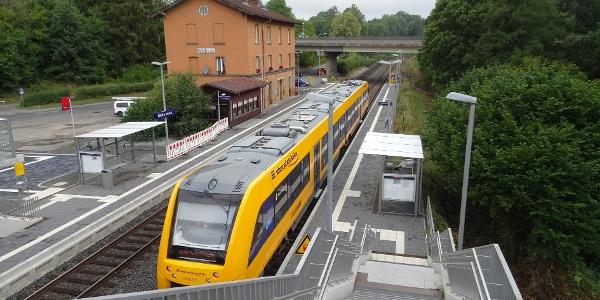 Start vom Bahnhof Reuth (Erbendorf)