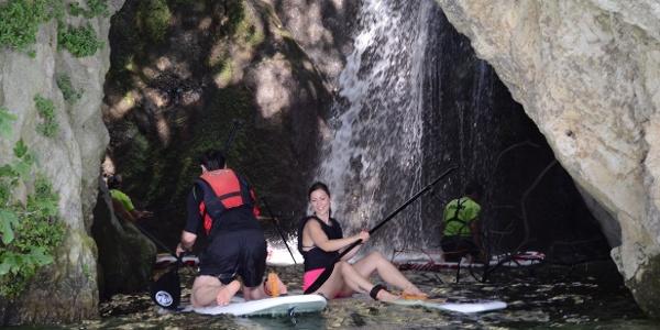 SUP: Wasserfall Cascata del Ponale