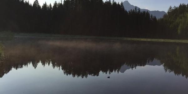 Spiegelung des Acherkogel im Brandsee