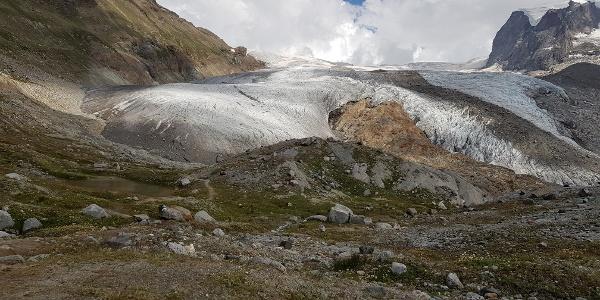 Kurz vor dem Übergang auf den Gletscher