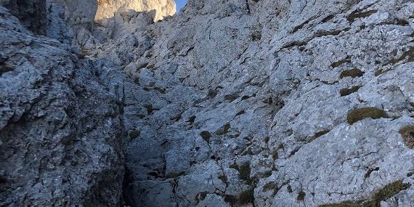 Ertlschlucht: freie Kletterei