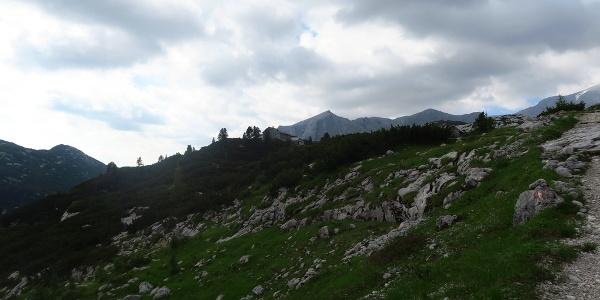 Wiesberghaus im Hintergrund