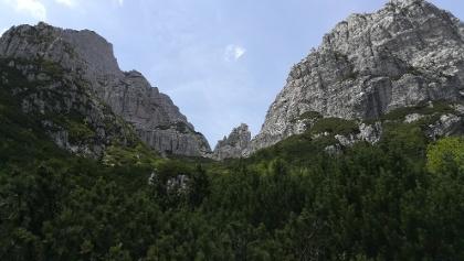 das Ende des langen Aufstiegs: links der Torre Nuviernulis, rechts die Forca Nuviernulis