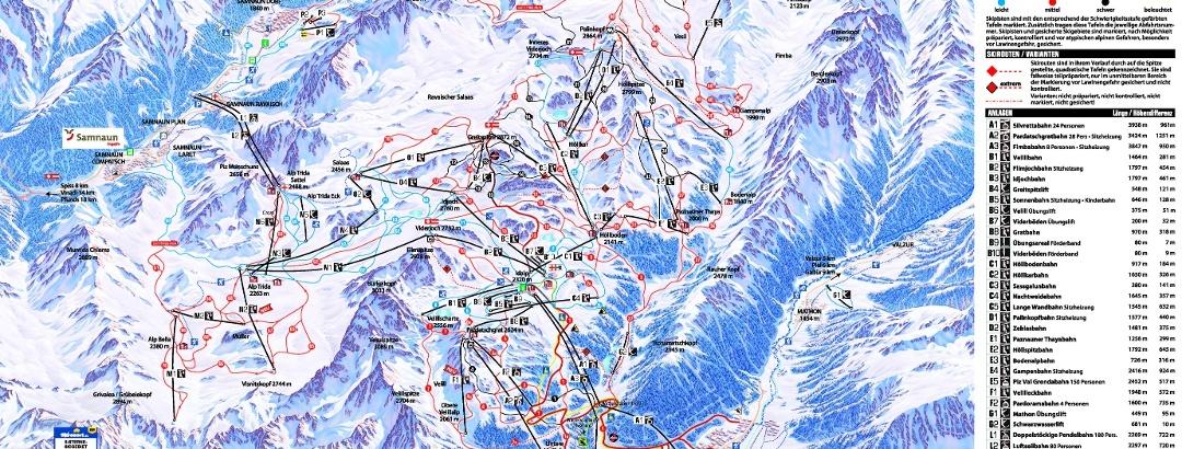 Pistenplan Ischgl-Samnaun 2019