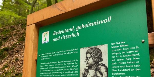 Sagenhafter Waldpfad - Informationstafeln