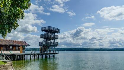 Sprungturm im Strandbad Utting