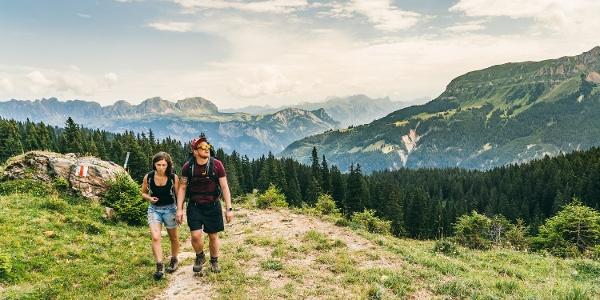 Aufstieg zur Spitzmeilenhütte