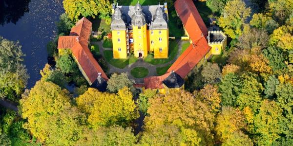 Holter Jagdschloss Luftbild
