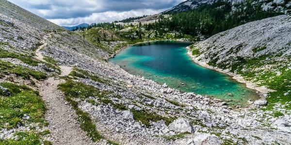 Footpath beside Jezero v Ledvicah (Kidney Lake)