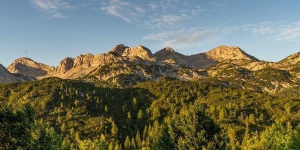 Mountain Peaks Tower above Komna Hut
