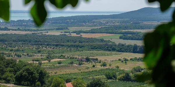 KIlátás a Balaton felé a Szent Balázs templomromtól