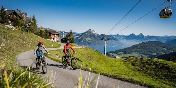 Aufstieg Richtung Stockhütte, Blick auf den Vierwaldstättersee