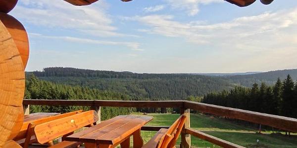 Schwedenhütte, Blick in Richtung Rothaarhauptkamm