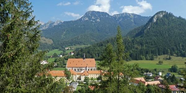 Blick von der Sieberwarte auf das Münster Neuberg