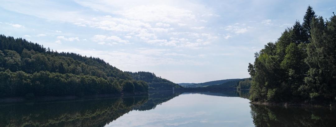 Wasserblick Oleftalsperre