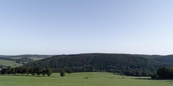 Ausblick über Hügellandschaft