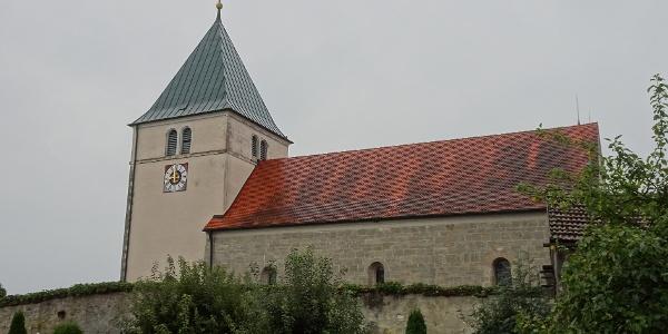 Start an der Kirche in Pettendorf