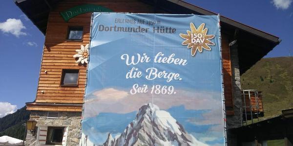 Wir lieben die Berge.. Dortmunder Hütte (1.950 m).. 31.08.2019