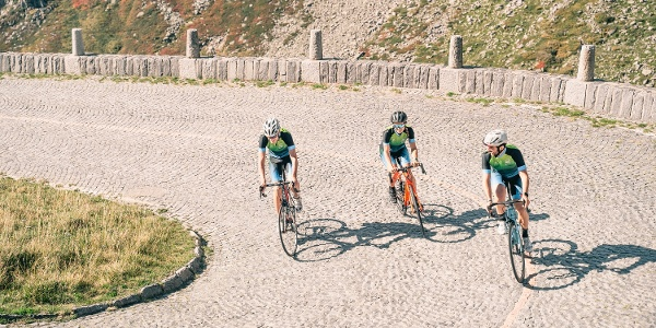 Cycling on the Tremola Road